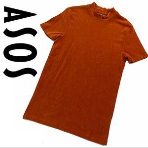ASOS Burnt Orange Ribbed Longline Top